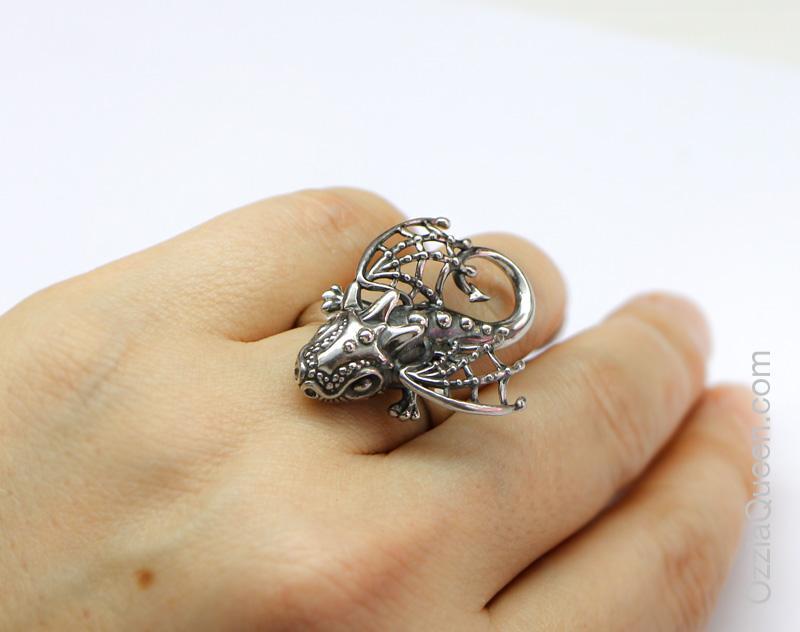 Кольцо фэнтези Дракон