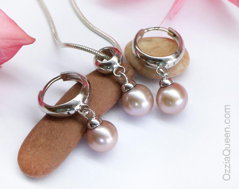 Комплект серебряный с жемчугом